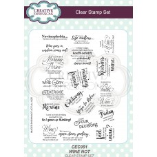 A5 Clear Stamp Set - Wine Not