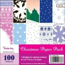 Crafts Too Designer Paper Pack - Christmas