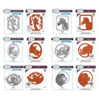 Sue Wilson - Safari Collection - Animal Die & Stamp Bundle
