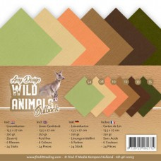 Amy Design - Wild Animals Outback - Linen Cardstock