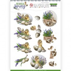 Amy Design - Botanical Spring 3D Pushout - Happy Ducks