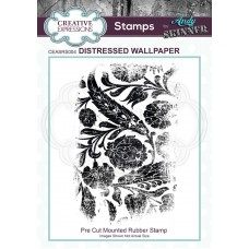 Creative Expressions - Rubber Stamp by Andy Skinner - Distressed Wallpaper