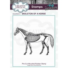 Andy Skinner Rubber Stamp - Skeleton of a Horse