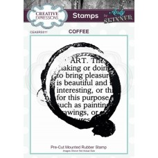 Andy Skinner Rubber Stamp - Coffee Art