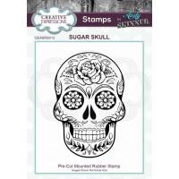 Andy Skinner Rubber Stamp - Sugar Skull