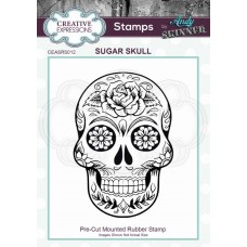 Andy Skinner Rubber Stamp - Sugar Skull