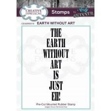 Andy Skinner Rubber Stamp - Earth Without Art