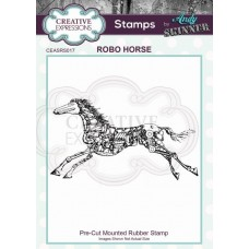 Andy Skinner Pre Cut Rubber Stamp - Robo Horse