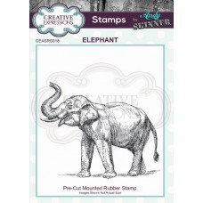 Andy Skinner Pre Cut Rubber Stamp - Elephant