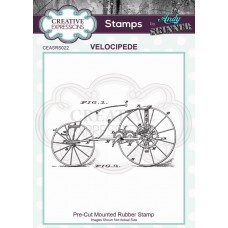 Andy Skinner Pre Cut Rubber Stamp - Velocipede