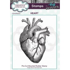 Andy Skinner Pre Cut Rubber Stamp - Heart