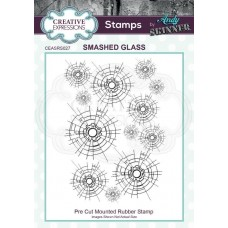 Andy Skinner - Rubber Stamp - Smashed Glass