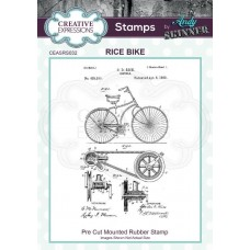 Andy Skinner - Rubber Stamp - Rice Bike