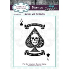 Andy Skinner - Rubber Stamp - Skull of Spades