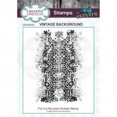Andy Skinner - Vintage Background Rubber Stamp