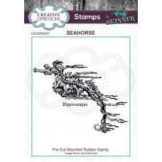 Creative Expressions - Rubber Stamp by Andy Skinner - Seahorse