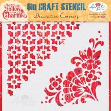 Angela Poole Craft Stencil Folksy Charm – Decorative Corners