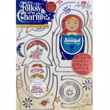 Angela Poole - Folksy Charm Dolls A4 Die Set