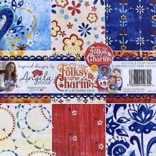 Angela Poole - Folksy Charm 8 x 8 Paper Pack