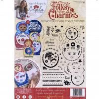 Angela Poole - A4 Clear Stamp Set Folksy Charm
