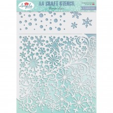 Angela Poole A4 Craft Stencil - Frozen Lace - DISPATCHING WEDNESDAY 19th AUGUST