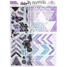 Angela Poole - Natures Textures Chevron Layering Stamps & Stencil Set