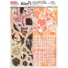 Angela Poole - Natures Textures Hexagon Layering Stamps & Stencil Set