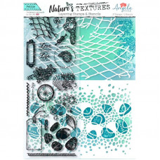 Angela Poole - Natures Textures Pebble Layering Stamps & Stencil Set