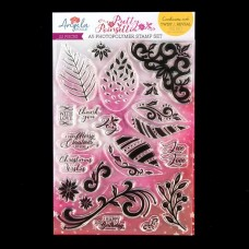 Angela Poole Pretty Poinsettia A5 Photopolymer Stamp Set