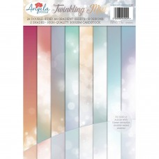 Angela Poole - Twinkling Mist A4 Gradients Card Pack - ADVANCED ORDER