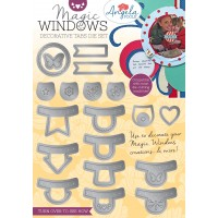 Angela Poole - Magic Windows Decorative Tabs Die Set