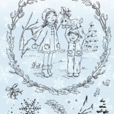 Angela Poole - Beautiful Moments - Mistletoe Kisses Stamp Set