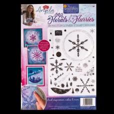 Angela Poole - Florals & Flurries A4 Stamp Set
