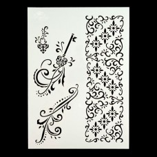 Angela Poole- A4 Craft Stencil - Vintage Flourishes - DISPATCHING FROM 4th MARCH