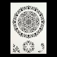 Angela Poole - A4 Craft Stencil - Vintage Lace Doily