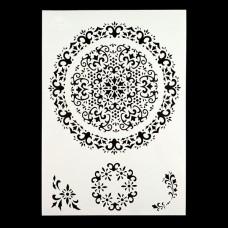 Angela Poole - A4 Craft Stencil - Vintage Lace Doily