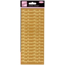 Anita's Outline Stickers - Happy Easter (Gold)