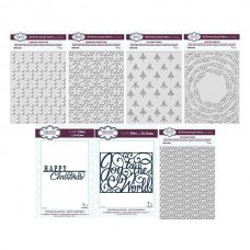 Festive 3D Embossing Folders Bundle - DISPATCHING TUESDAY 18th AUGUST