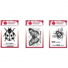 Woodware A7 Stamp Set - Bugs