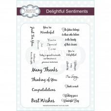 Delightful Sentiments A5 Clear Stamp Set