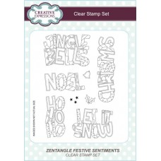 Zentangle Festive Sentiments - A5 Clear Stamp Set