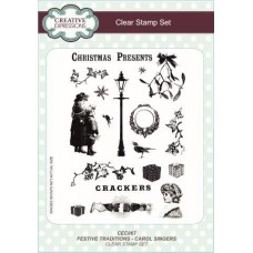 Festive Traditions Carol Singers Stamp Set
