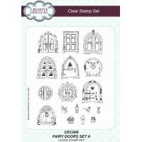 Fairy Doors Set A A5 Clear Stamp Set