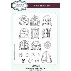 Fairy Doors Set B A5 Clear Stamp Set