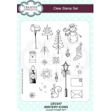 Wintery Icons A5 Clear Stamp Set