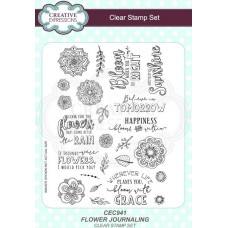 Flower Journaling A5 Clear Stamp Set