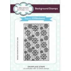 Snowflake Stripe A6 Background Stamp