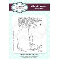 Snowy Fir Tree A6 Pre Cut Rubber Stamp