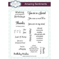 Amazing Sentiments A5 Clear Stamp Set
