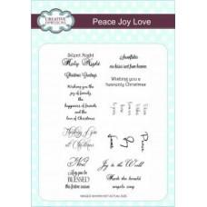 Peace Joy Love A5 Clear Stamp Set